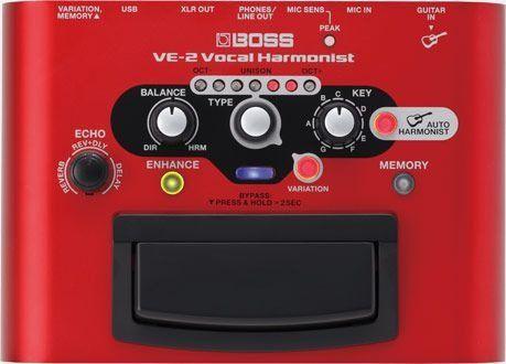 Pedal de Efeito Boss Vocal Processor VE2 para Voz