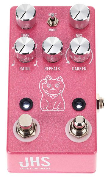 Pedal de Efeito JHS Pedals Lucky Cat Delay Pink