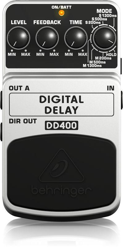 Pedal de Efeitos Behringer DD400 Digital Delay para Guitarra