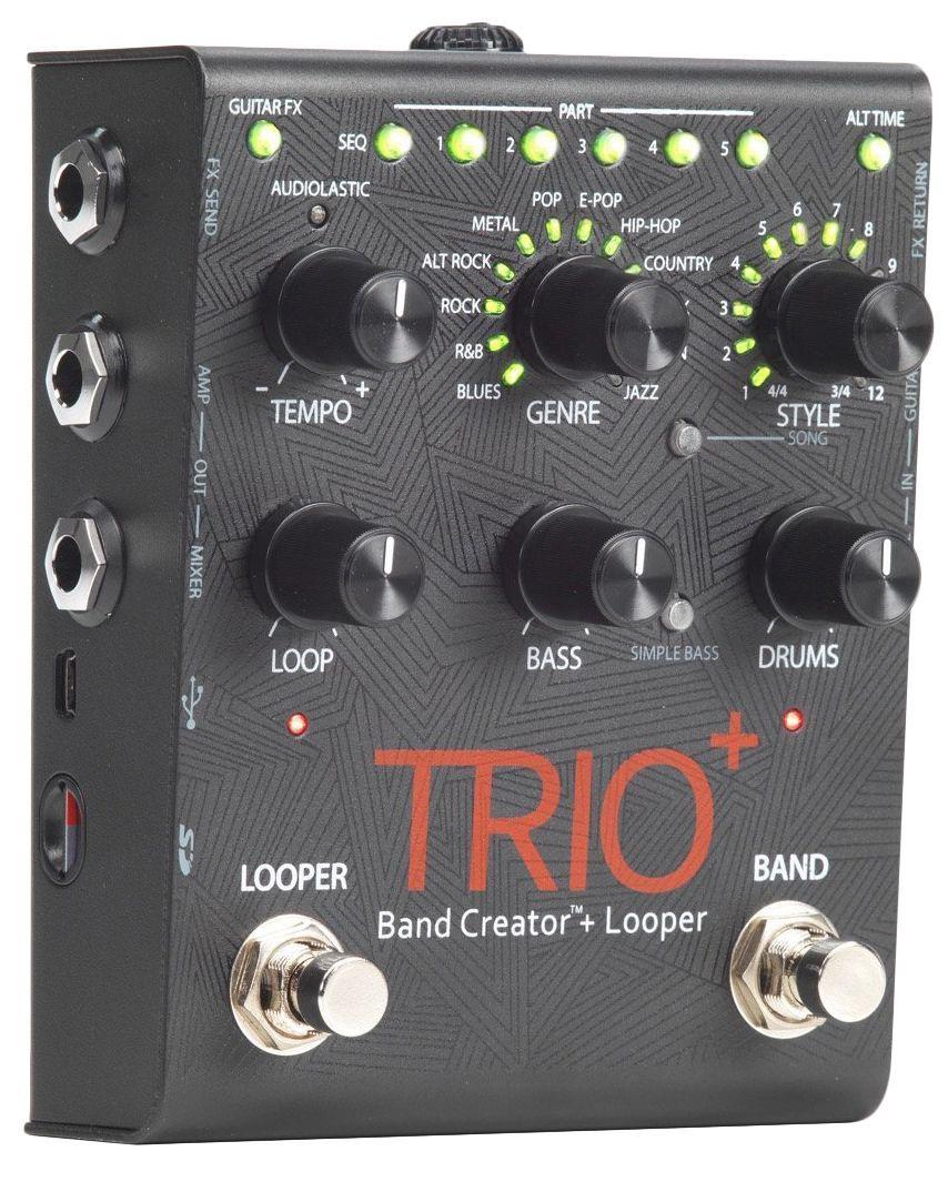 Pedal de Efeitos Digitech Trio Plus Band Creator Looper para Guitarra