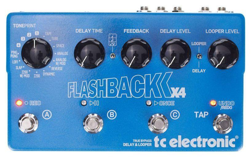 Pedal de Efeitos TC Electronic Delay Flashback X4