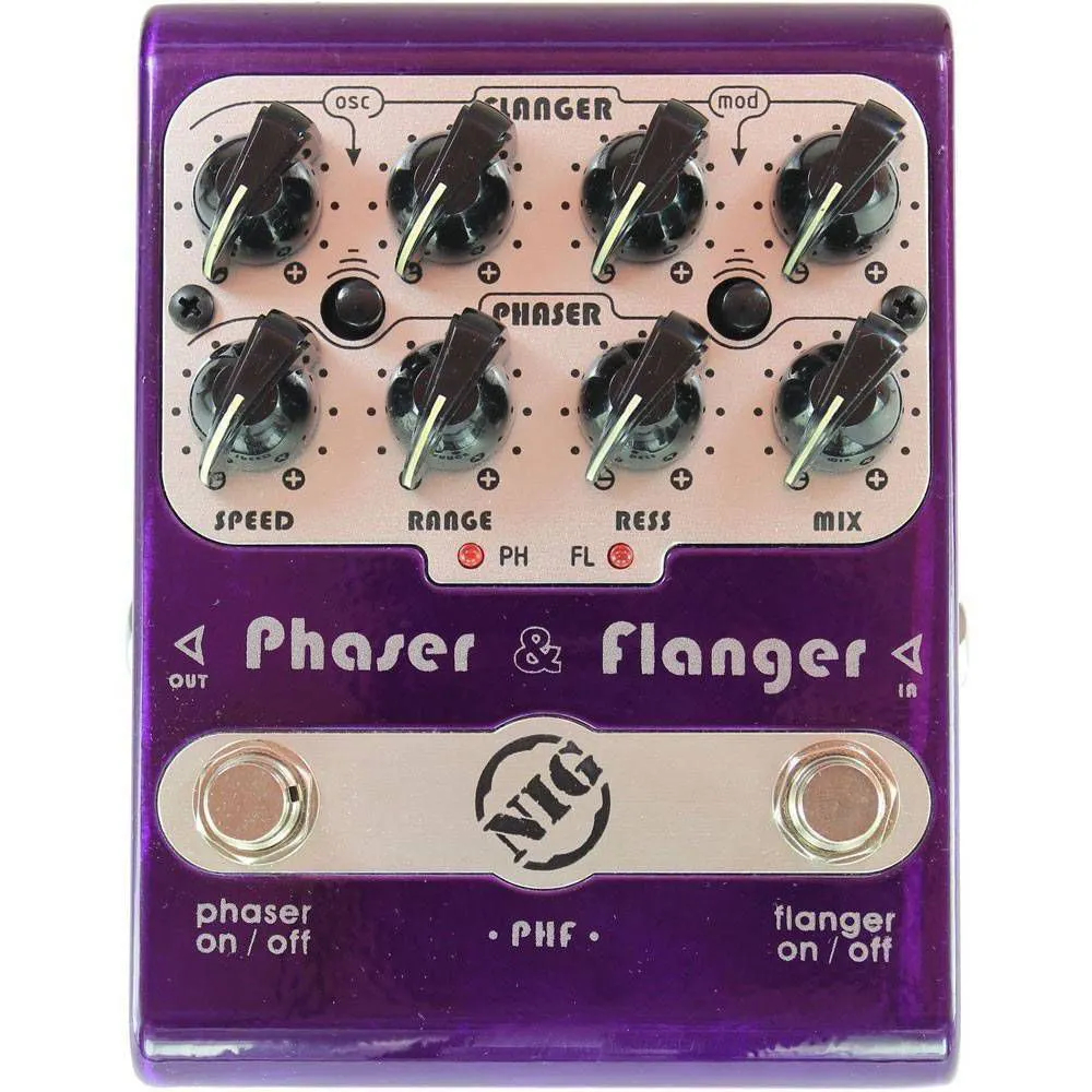 Pedal Nig PHF Phaser and Flanger Dual