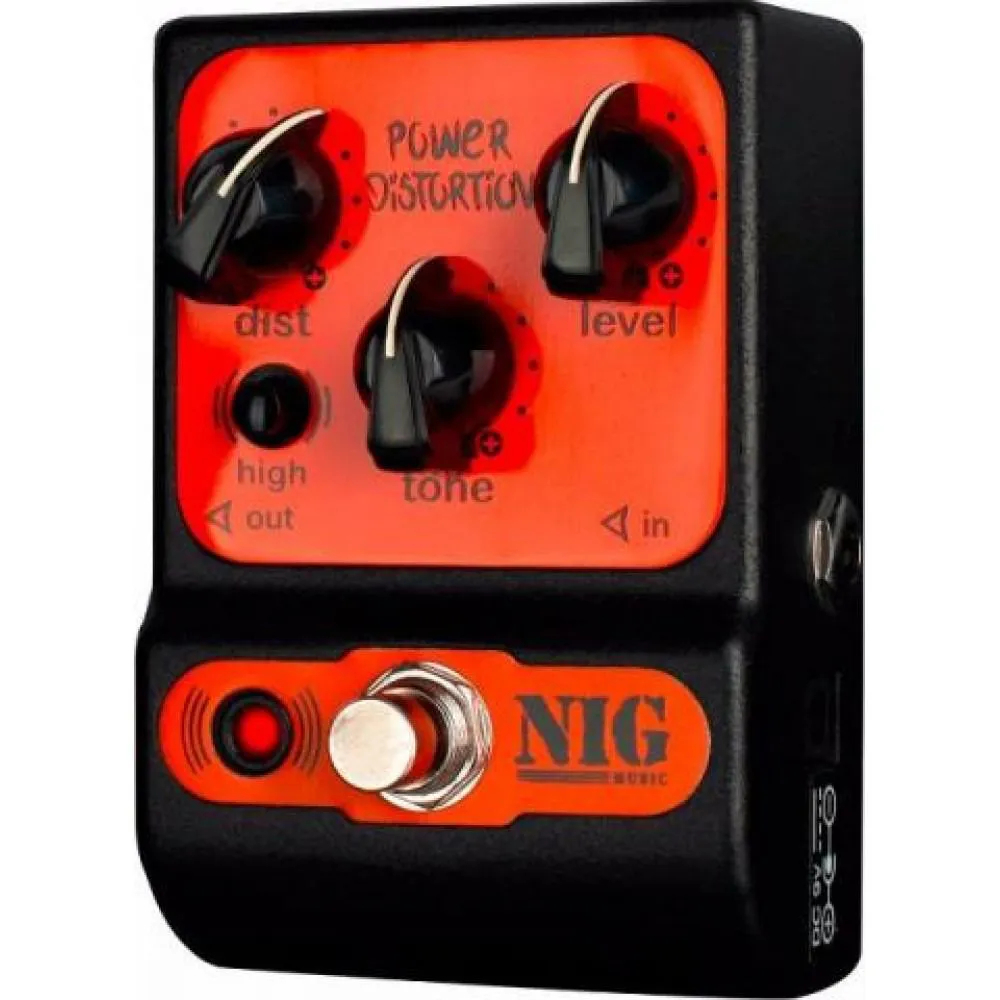 Pedal Nig Pocket PPD Power Distortion 9V True Bypass