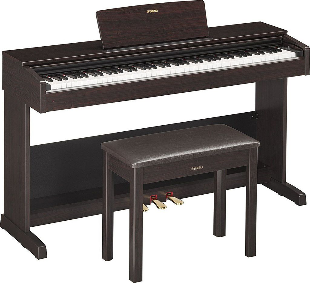 Piano Digital Yamaha Arius YDP103 USB 88 Teclas com Estante Marrom