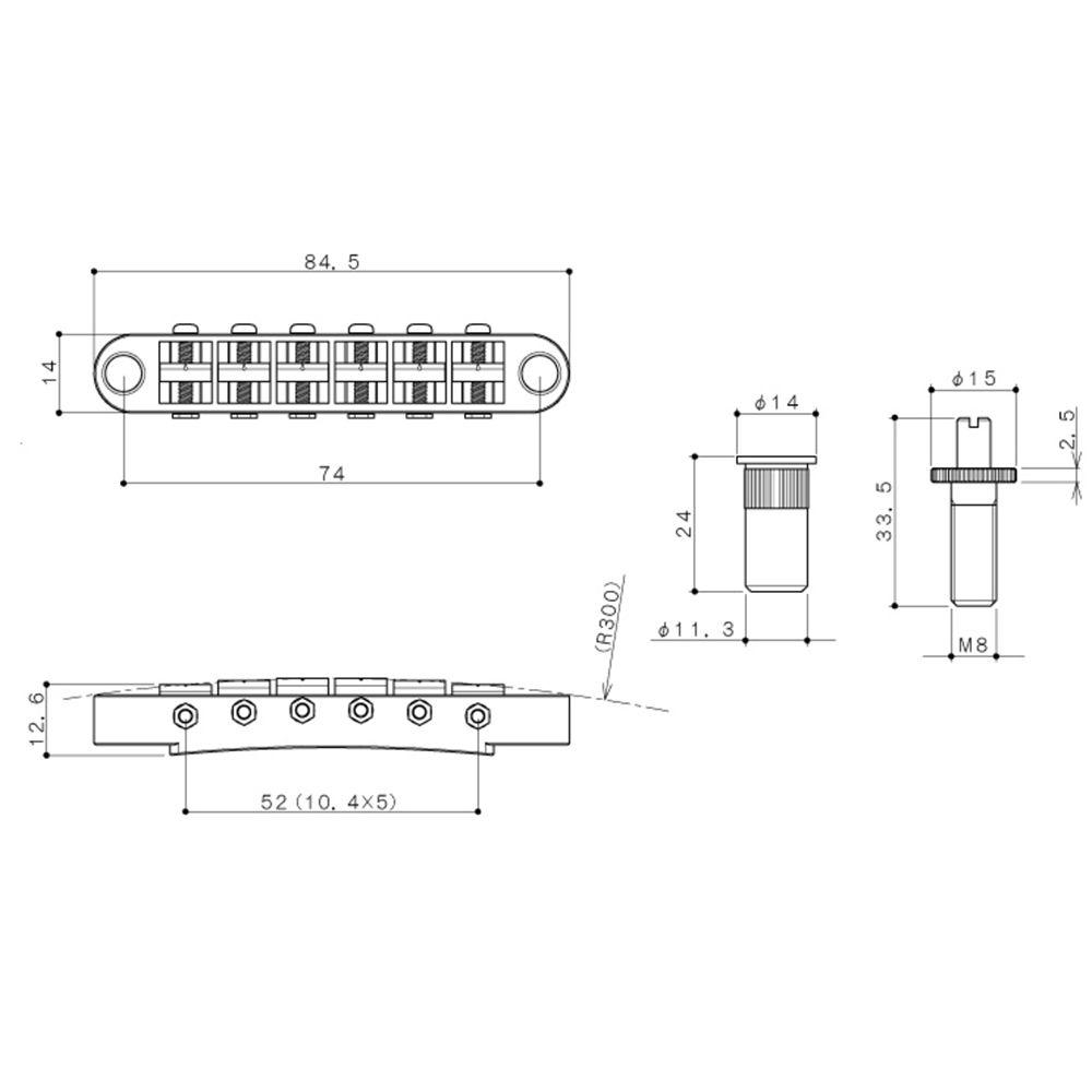 Ponte Fixa Tune-o-Matic Gotoh GE103-BT Niquelado