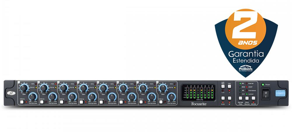 Pré Amplificador Focusrite OctoPre MKII Dynamic