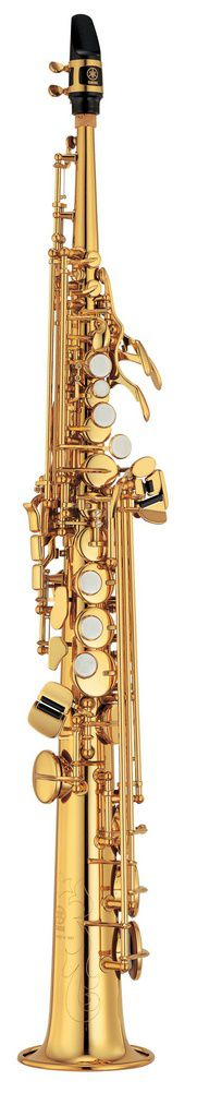 Saxofone Soprano Yamaha YSS475 II Bb Laqueado Dourado com Case