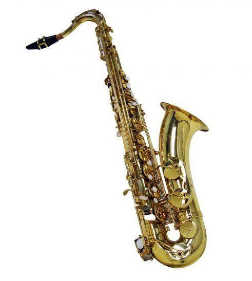 Saxofone Tenor Shelter SGFT6435L Bb Laqueado Dourado com Case