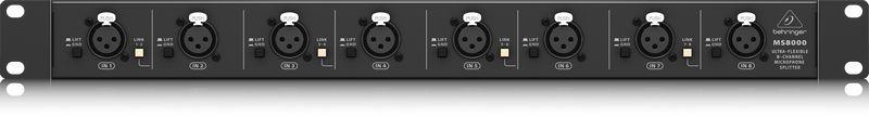 Splitter de Microfone Behringer Ultralink MS8000 8 Canais