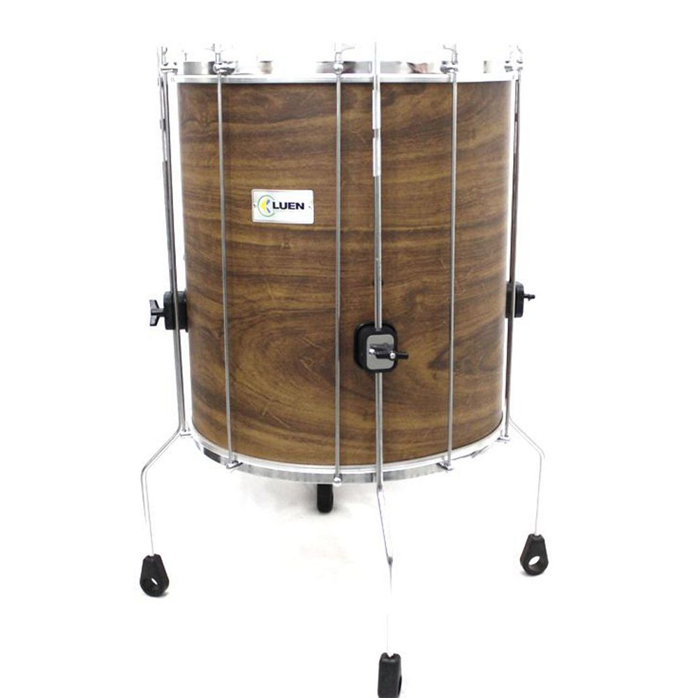 Surdo Luen Percussion Guetto 60x18 Cromado com Pele Animal