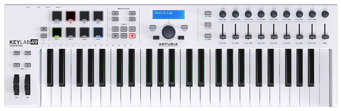 Teclado Controlador Híbrido Arturia Keylab Essential 49 Teclas