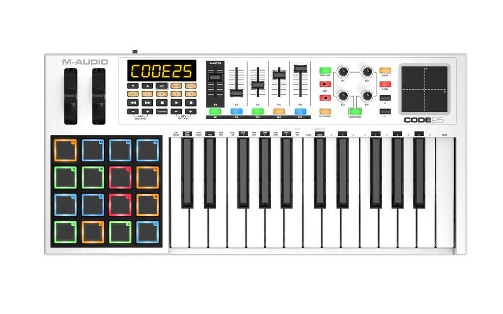 Teclado Controlador M-Audio Code 25 USB Midi 25 Teclas