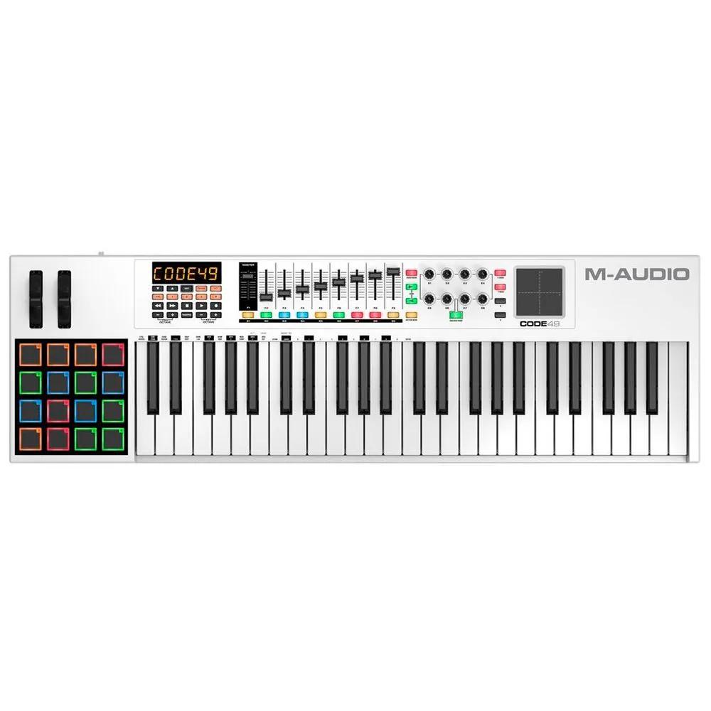 Teclado Controlador M-Audio Code 49 USB Midi 49 Teclas