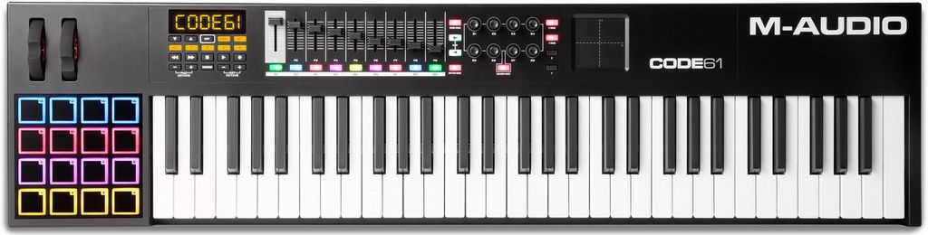 Teclado Controlador M-Audio CODE 61 USB/MIDI 61 Teclas Preto