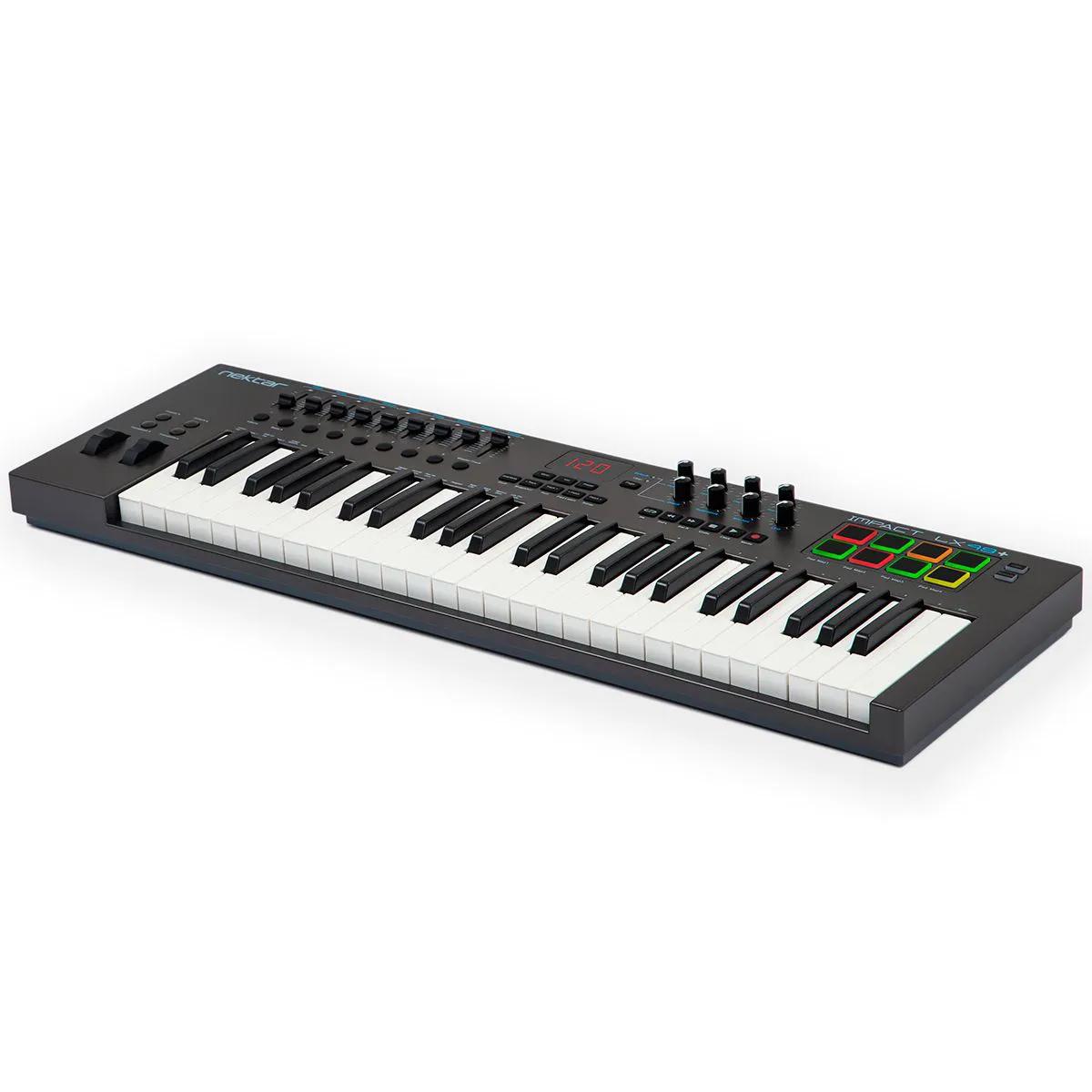 Teclado Controlador Nektar Impact LX49+ MIDI USB 49 Teclas