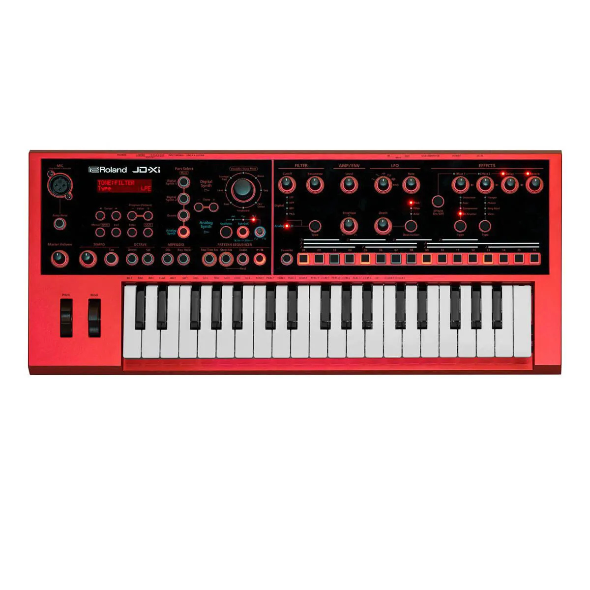 Teclado Sintetizador Roland JD-Xi Limited Edition Red