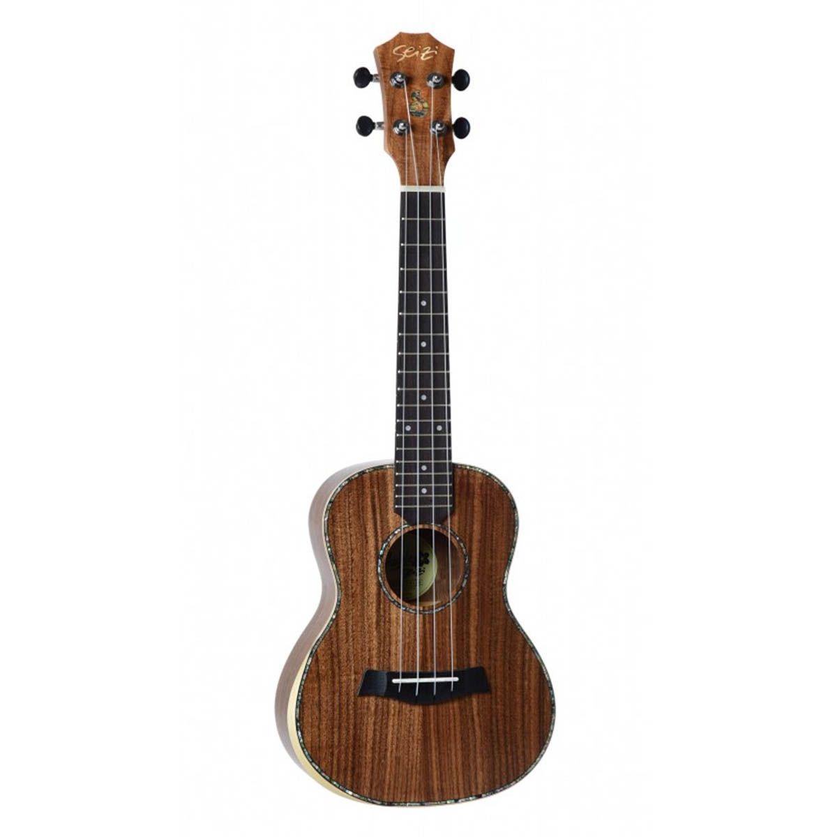 Ukulele Acústico Seizi Kauai Concert Koa com Bag
