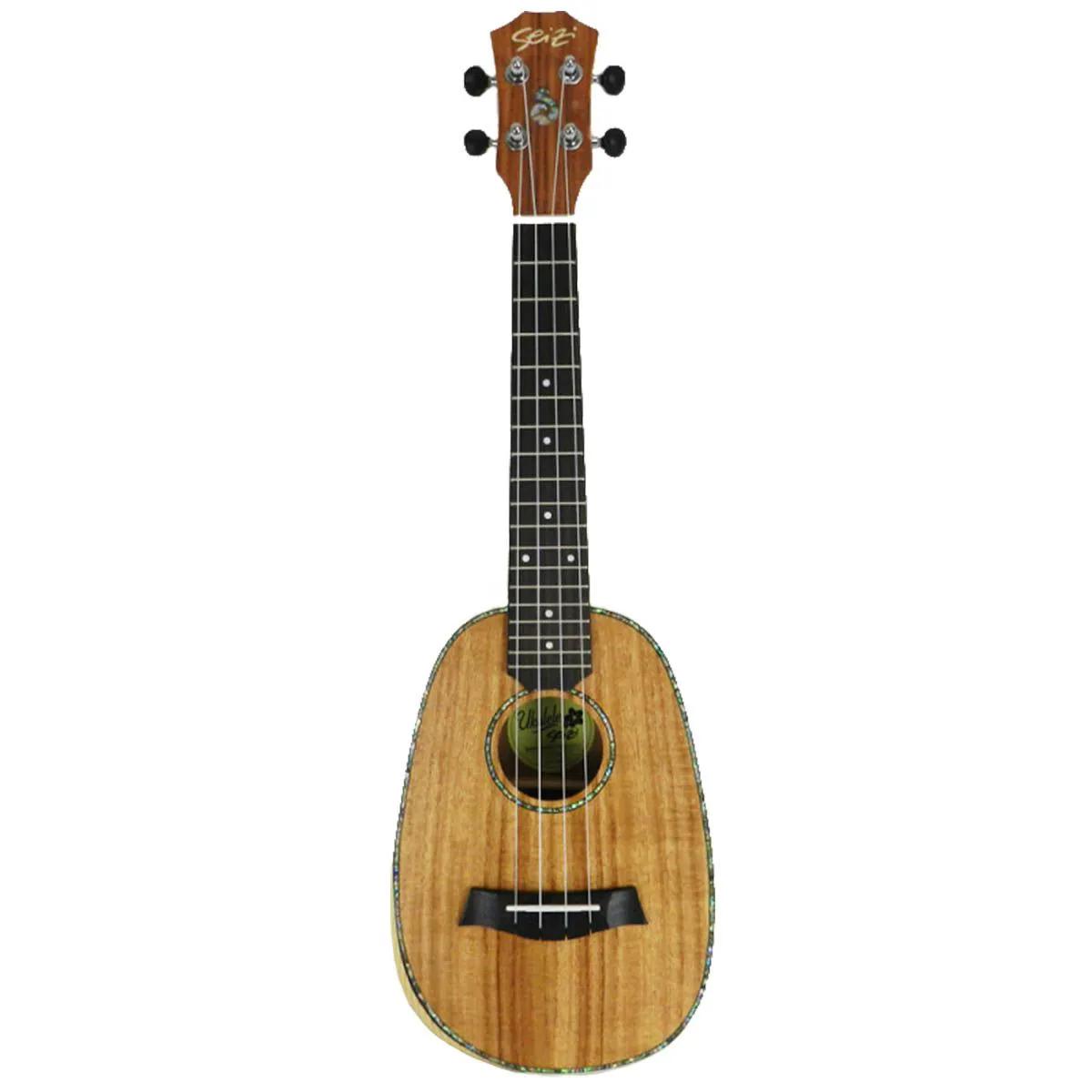 Ukulele Elétrico Seizi Bora-Bora Pineapple Concert Koa