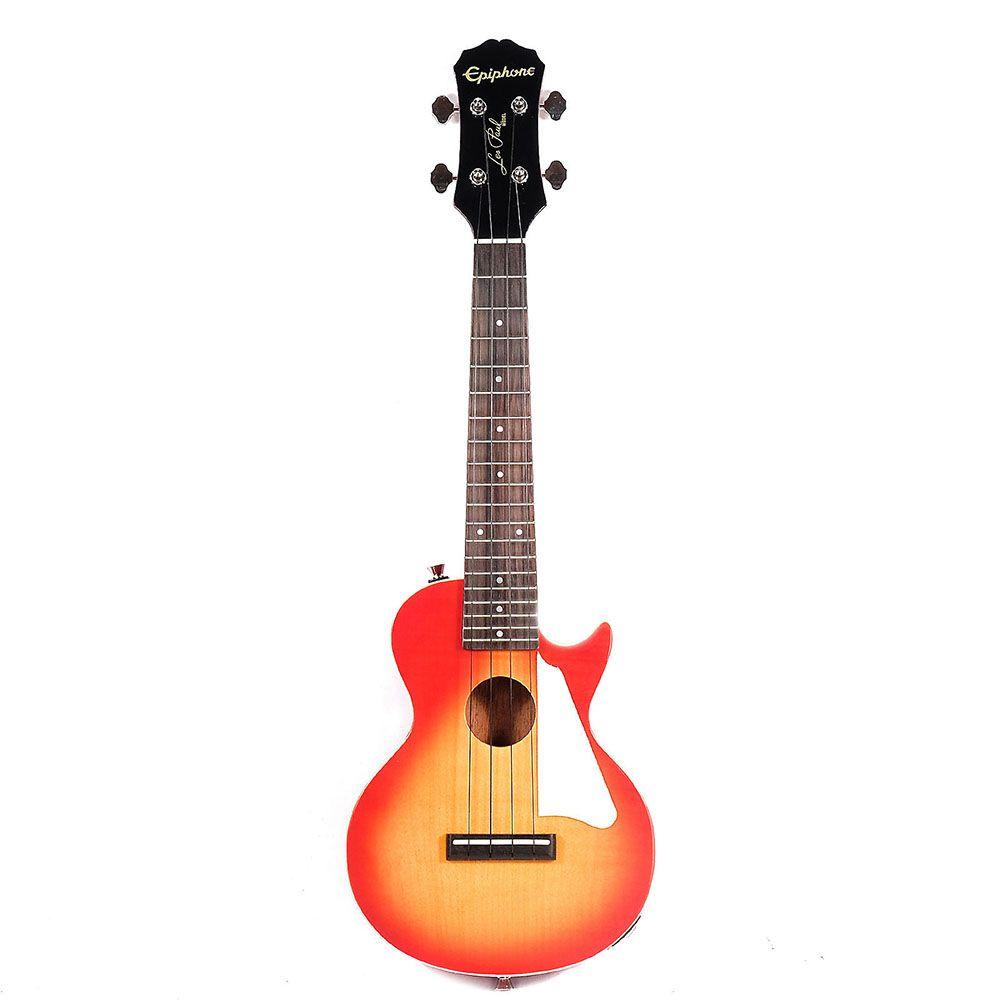 Ukulele Eletro-Acústico Epiphone Les Paul Concert com Bag