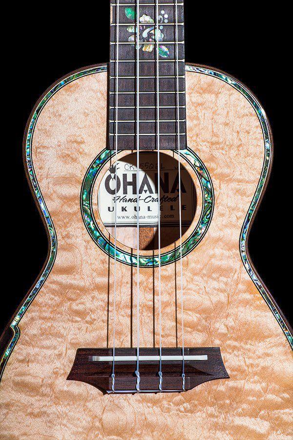 Ukulele Ohana CK-450QEL Concert com Cordas Aquila