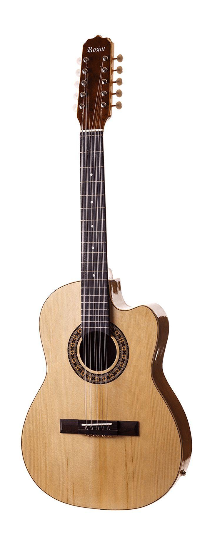 Viola Caipira Eletro-Acústica Rozini RV141ATN Flat Natural