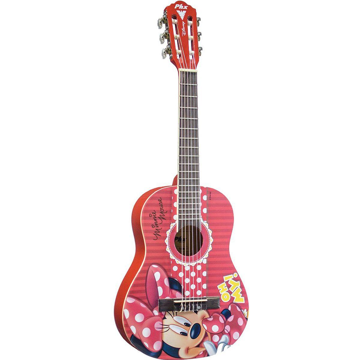 Violão Acústico PHX VID-MN1 Disney Minnie com Capa
