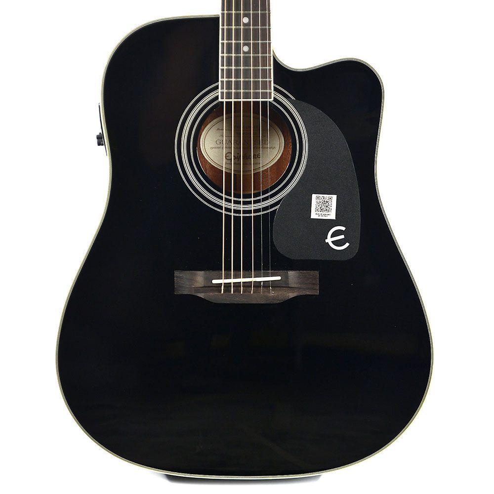 Violão Eletro-Acústico Epiphone Pro-1 Ultra Folk Black