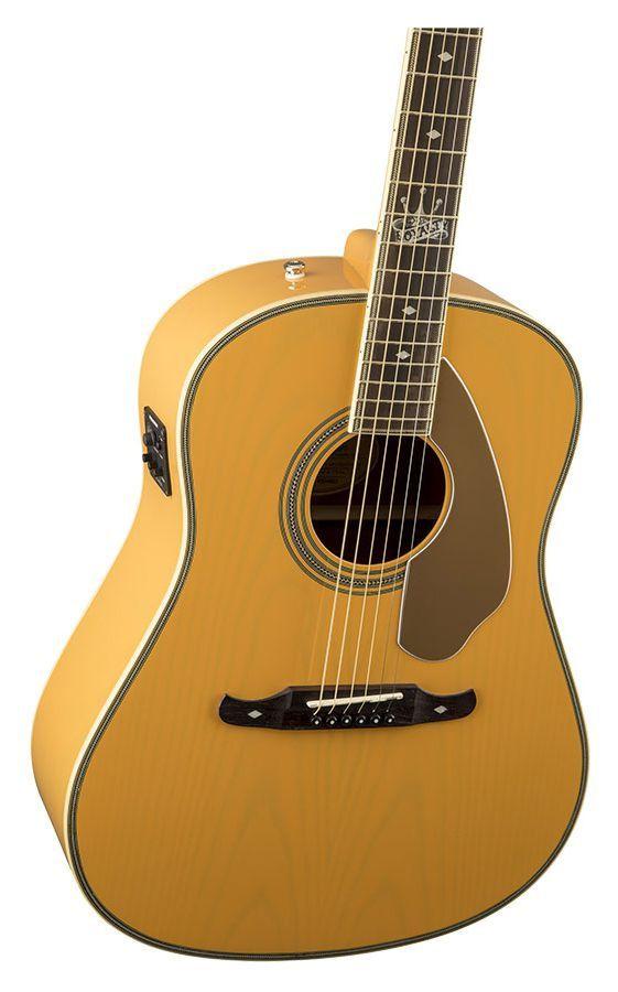 Violão Eletro-Acústico Fender Ron Emory Loyalt Ash Butterscotch
