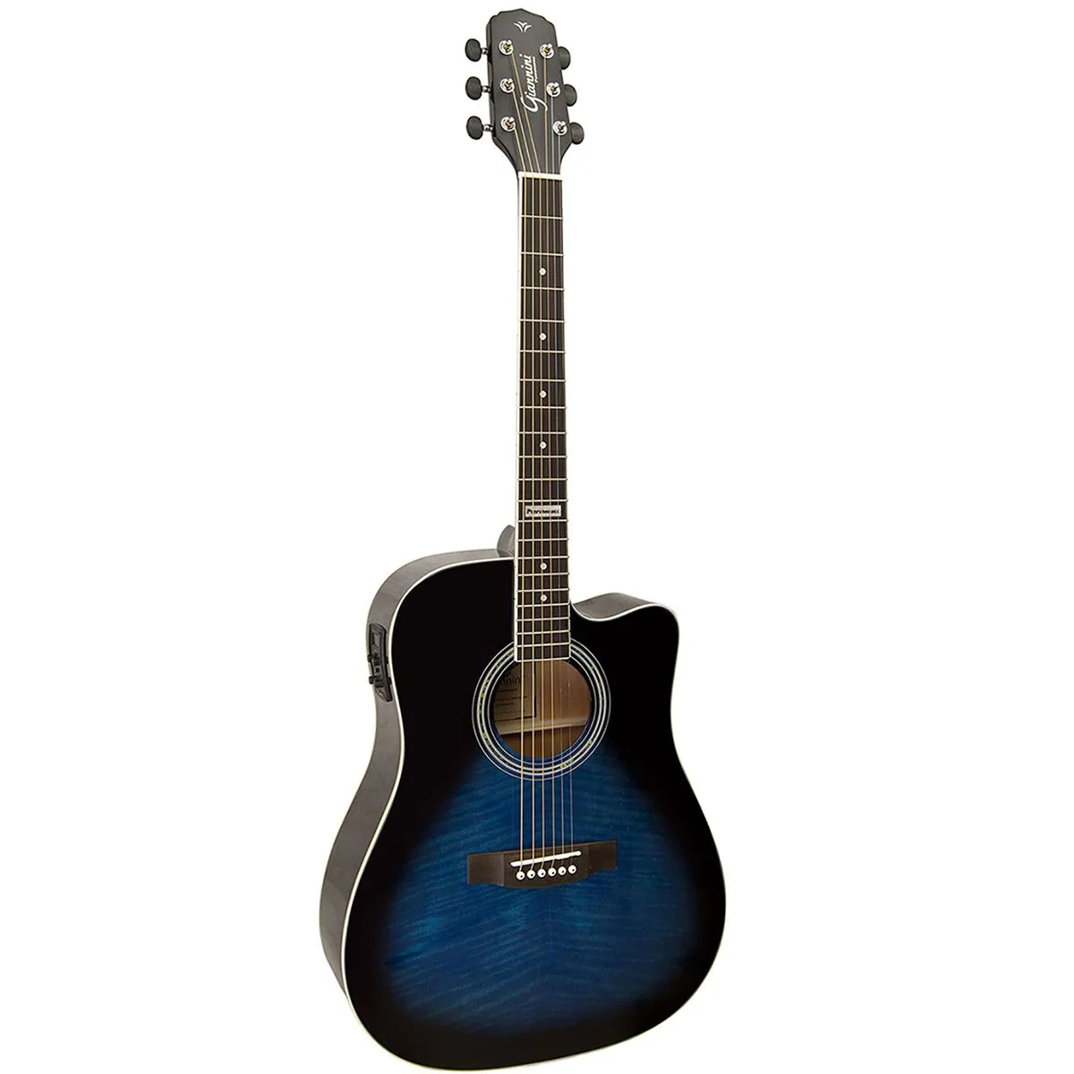 Violão Eletro-Acústico Giannini GF-1D Folk Dark Blue Burst