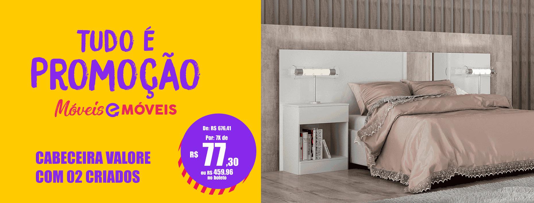 Cabeceira Box Casal Queen extensível Valore Com 02 Criados Móveis Novo Horizonte