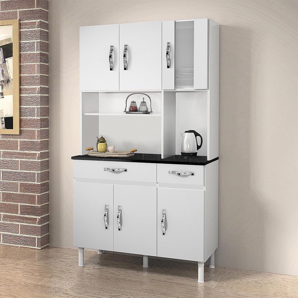 Armário de Cozinha 6 Portas Sampaio Branco - CHF