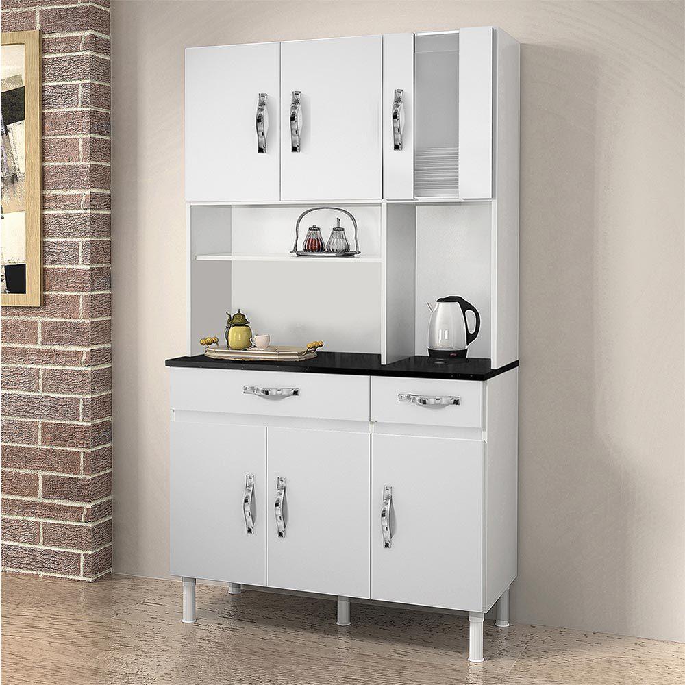 Armário de Cozinha 6 Portas Ventura Branco - CHF