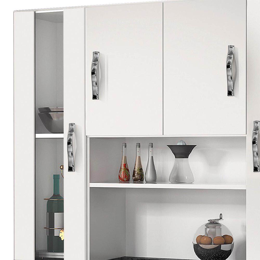 Armário de Cozinha 8 Portas Sampaio Branco - CHF