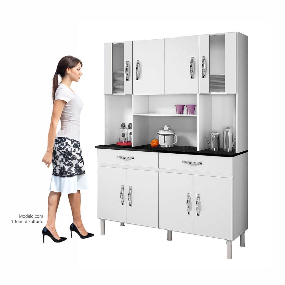 Armário de Cozinha 8 Portas Ventura Branco - CHF