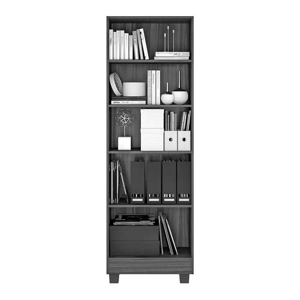 Armário Livreiro Office Iara Branco Jcm Movelaria