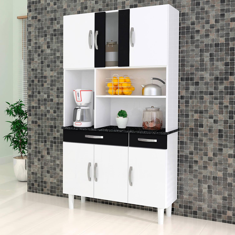 Armário Para Cozinha 6 Portas Estilo- Kaiki Móveis -