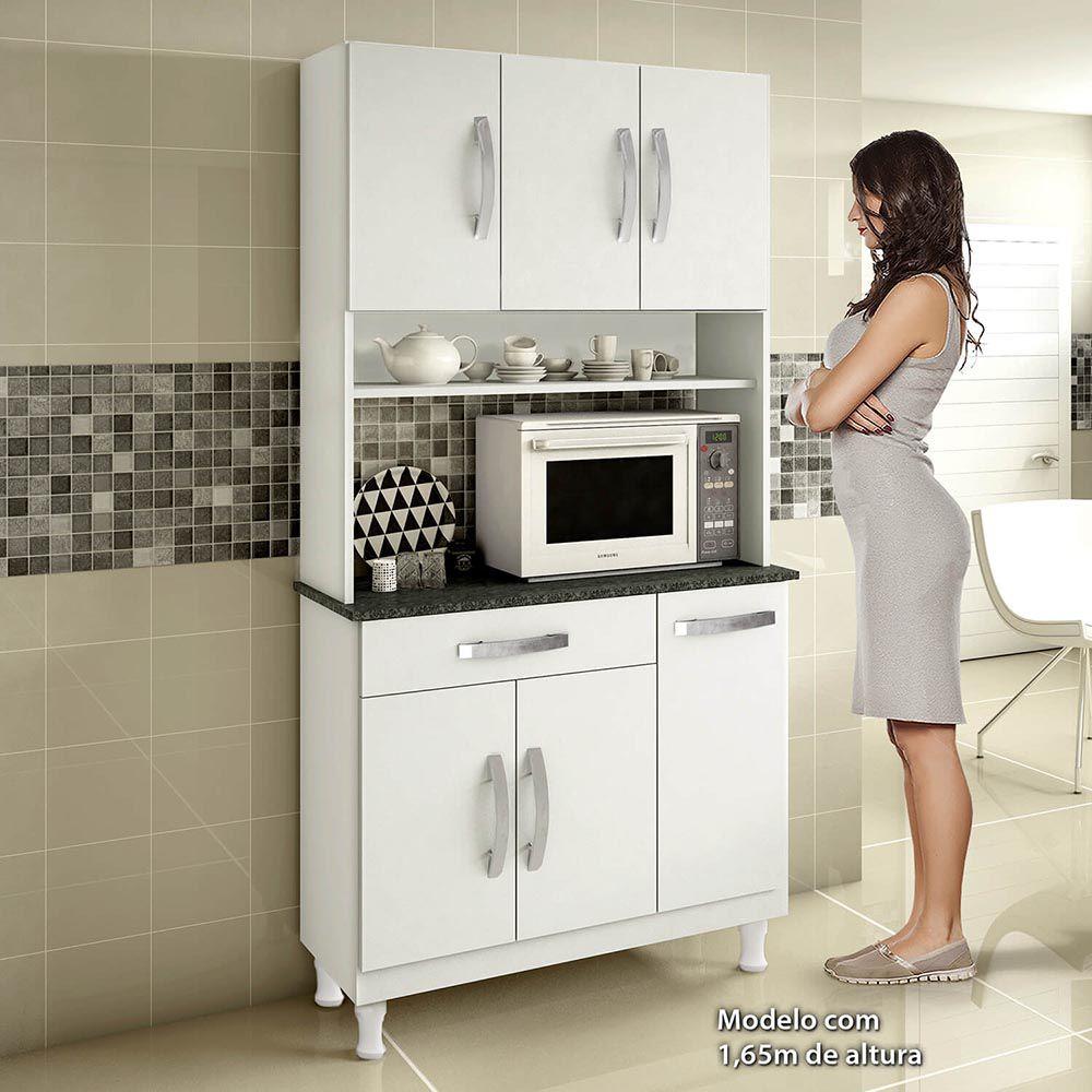 Armário Para Cozinha 6 Portas Lírio-Kaiki Móveis