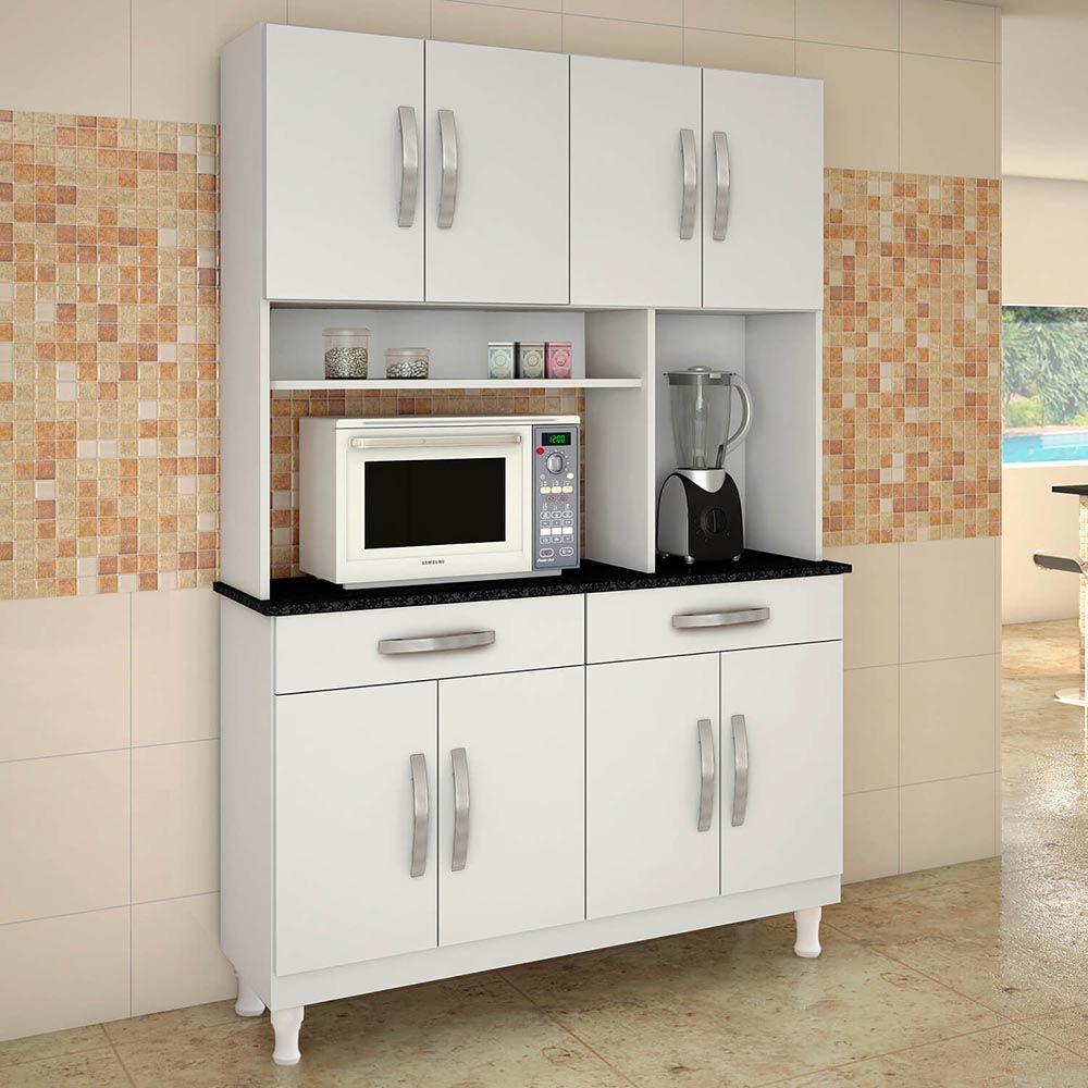 Armário Para Cozinha 8 Portas Gardênia - Kaiki Móveis