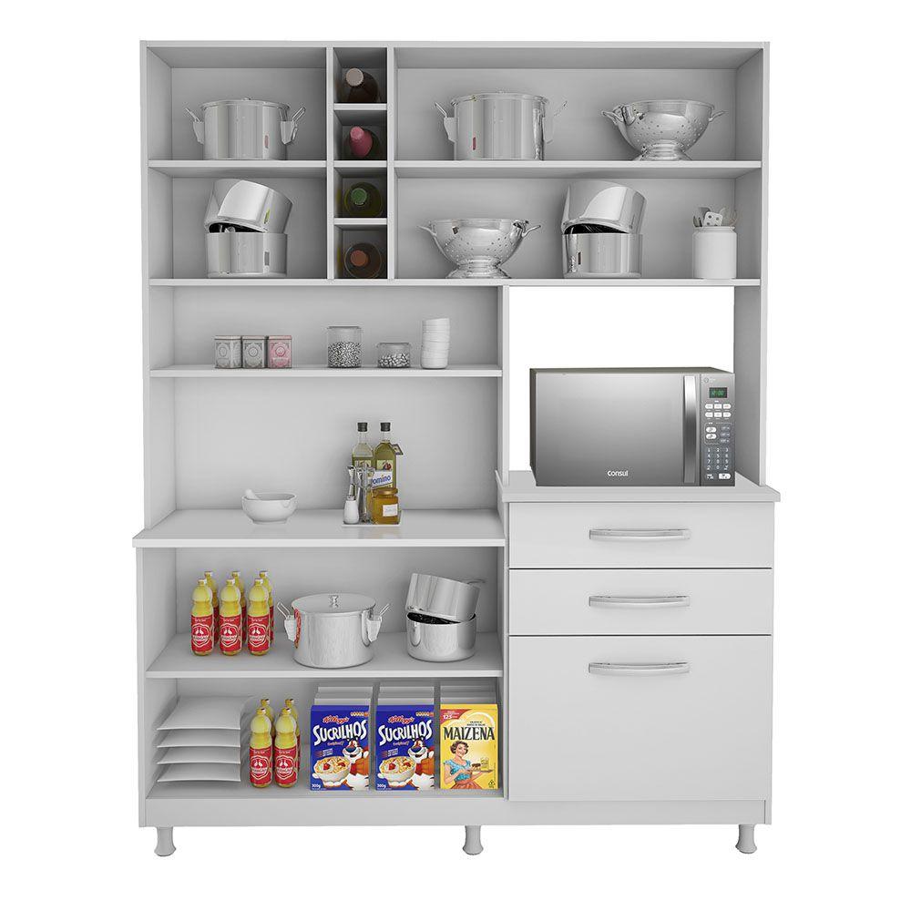 Armário Para Cozinha Ômega - Kaiki Móveis Cor:Branco