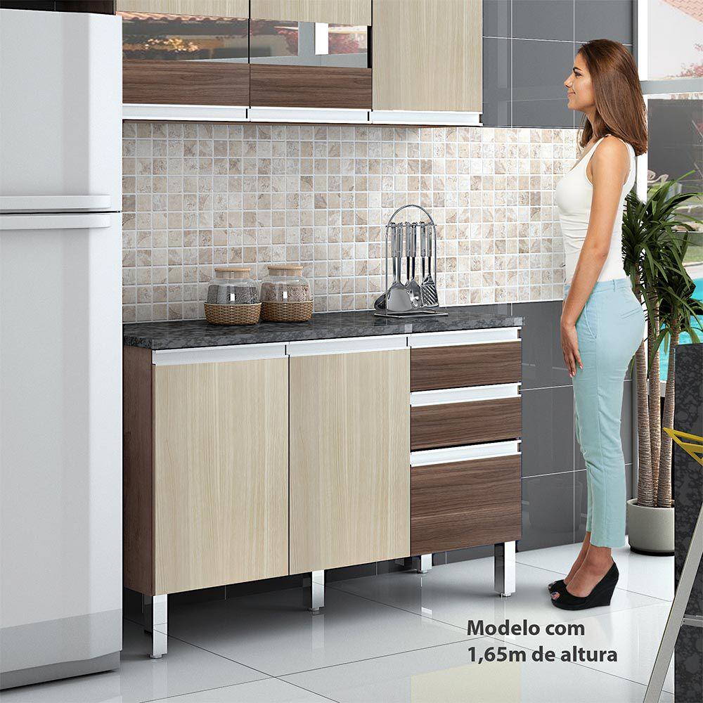 Balcão de Cozinha Turmalina Mocaccino/Teka - CHF