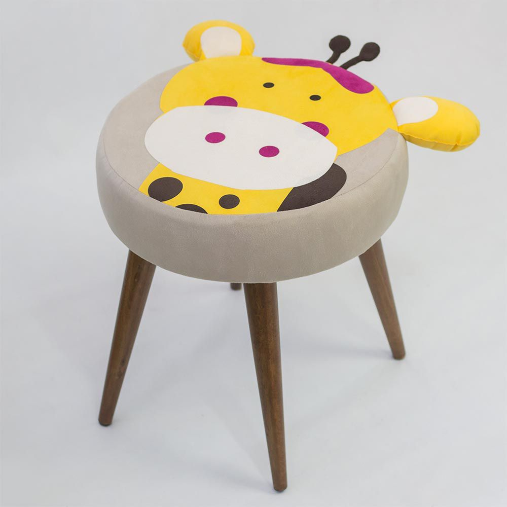 Banqueta Redonda Baby Girafa - Lara Decorações