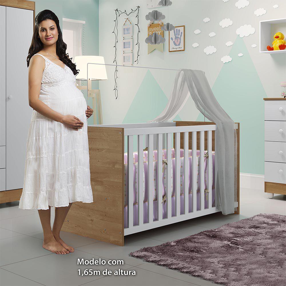 Berço Life Branco/Naturale - Tigus Baby