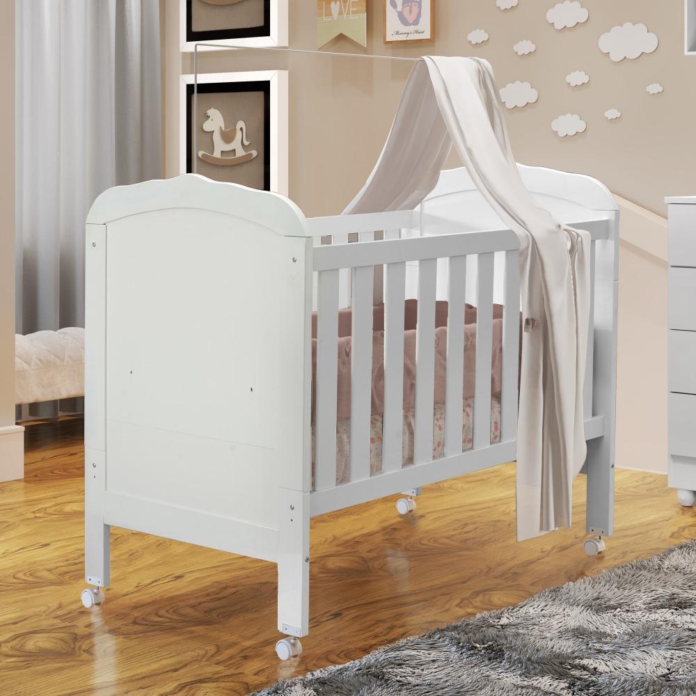 Berço Mini Cama Allegra - Branco - Tigus Baby