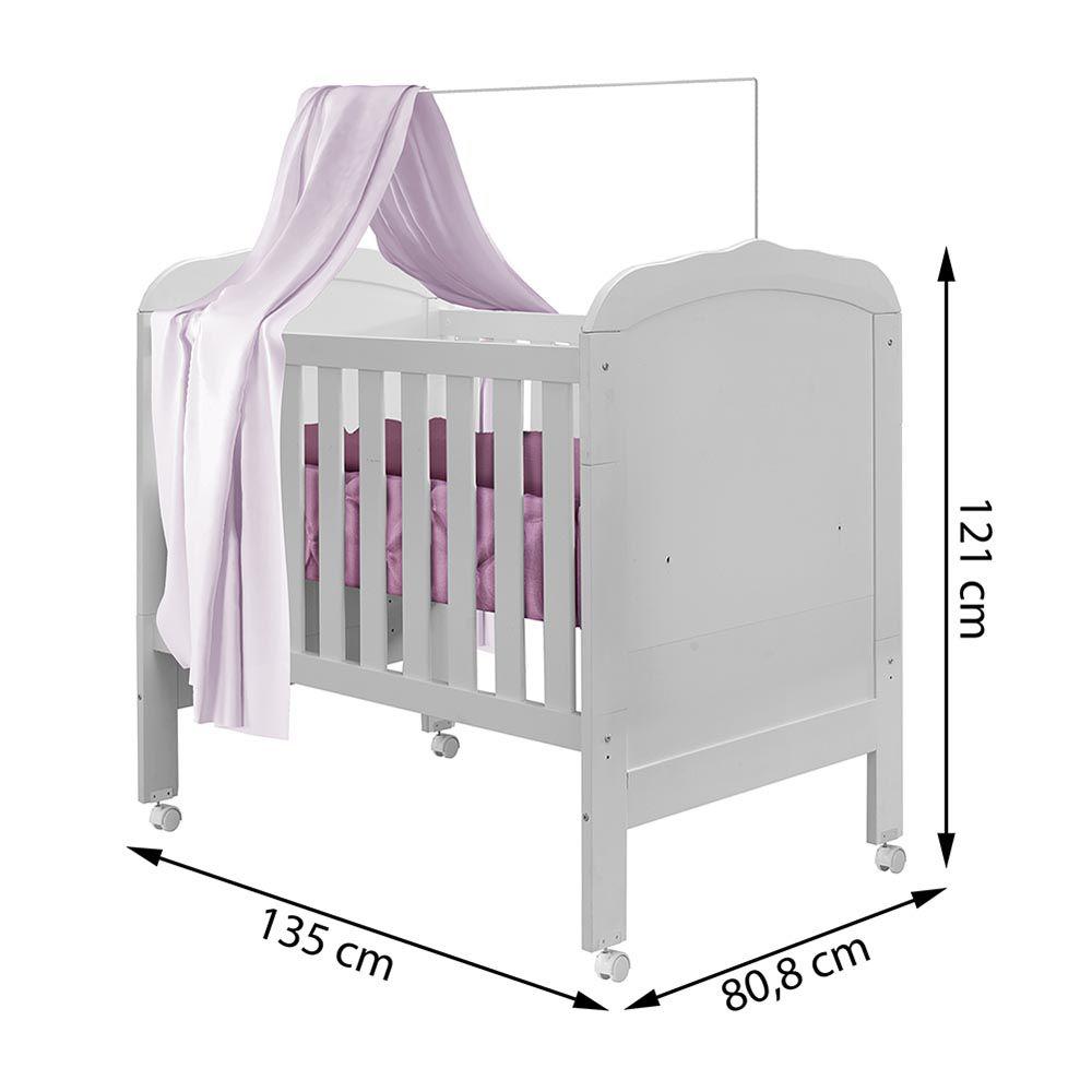 Berço Minicama Allegra Branco - Tigus Baby