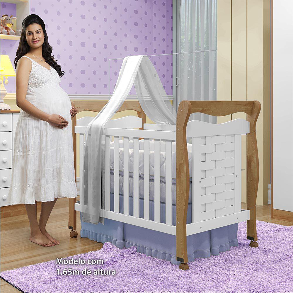 Berço Minicama Tiago Branco/Naturale - Tigus Baby
