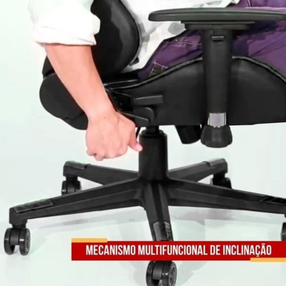 Cadeira Gamer Thunder Preto/Branco - Moobox