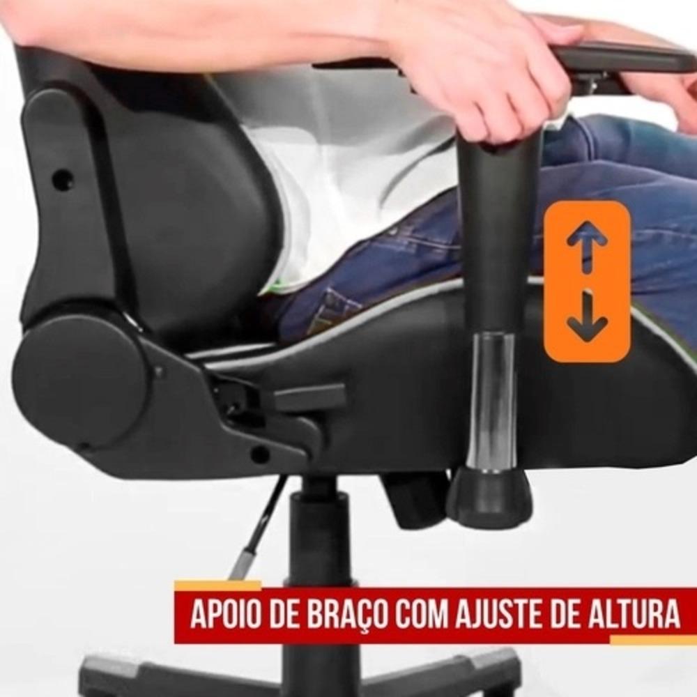 Cadeira Gamer Thunder Preto/Verde - Moobox
