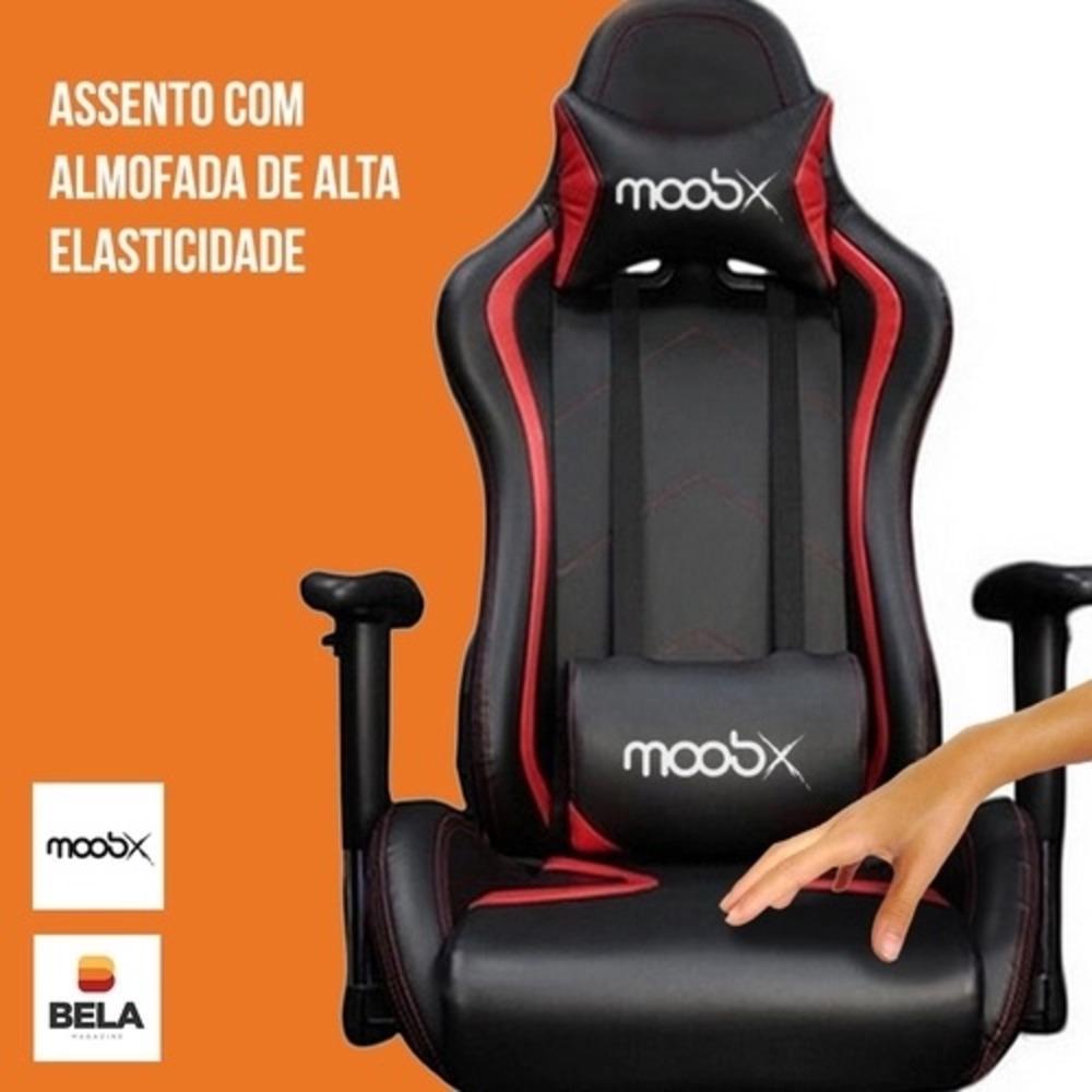 Cadeira Gamer Thunder Preto/Vermelho - Moobox