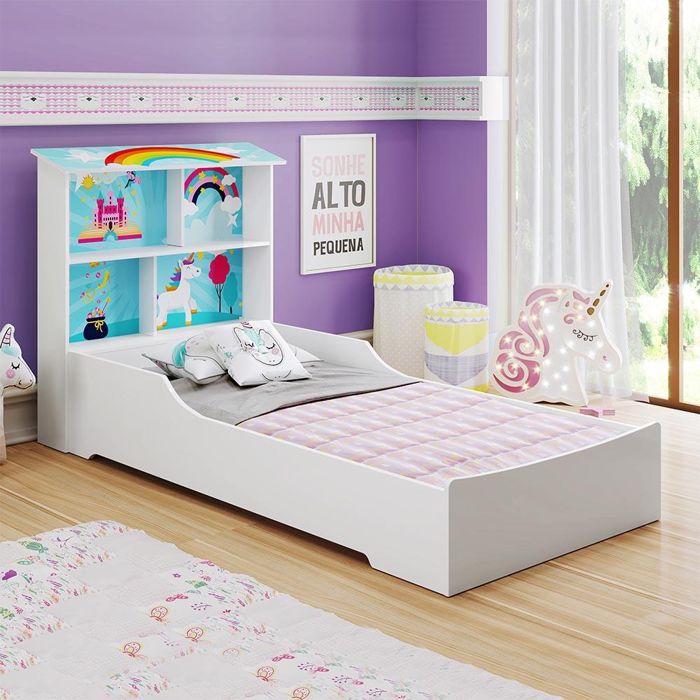 Cama Juvenil Mimus - Branco/Colorido - Tigus Baby