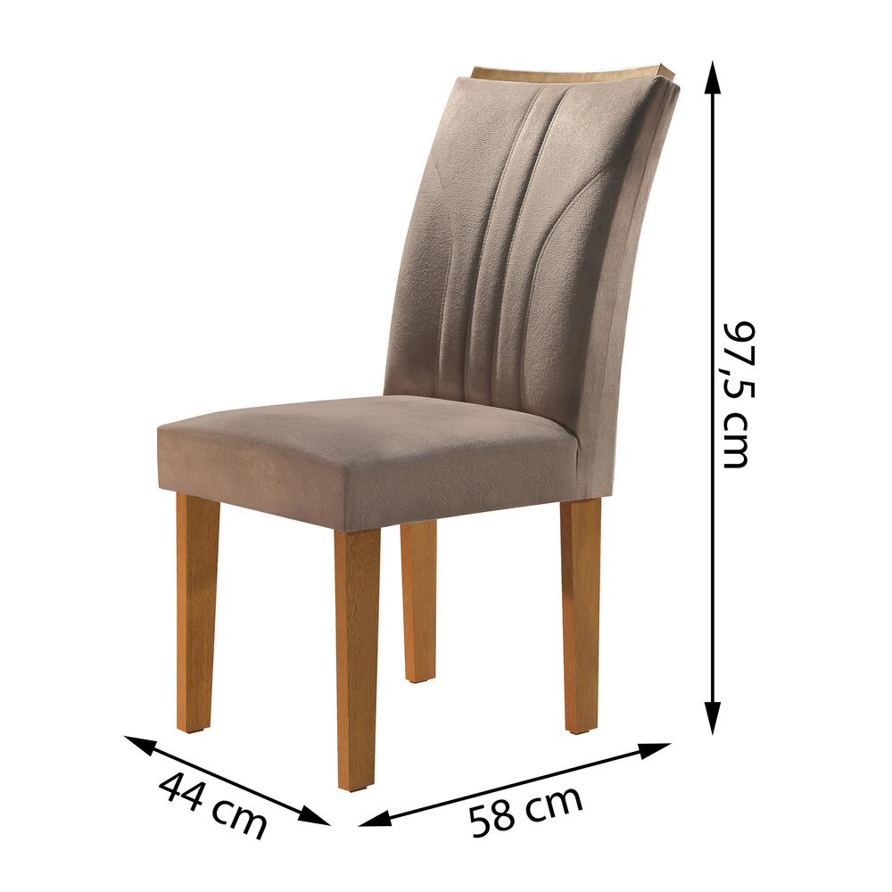Conjunto 2 Cadeira Belle - Ype/Suede Pena - Cel Móveis